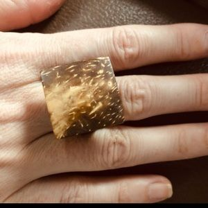 Gorgeous coconut shell wood ring